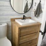 Rustic modern vanity hand made using solid Manitoba Oak